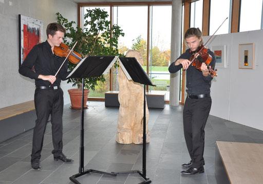 Zwei Musiker des Eratoquartetts