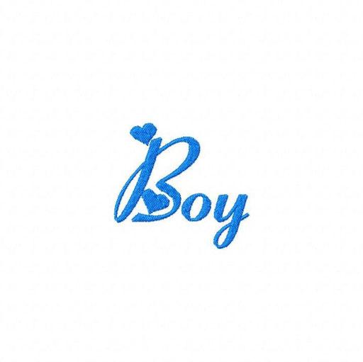 Boy Schriftzug - Größe: 70x65 mm - Stiche: 3 479