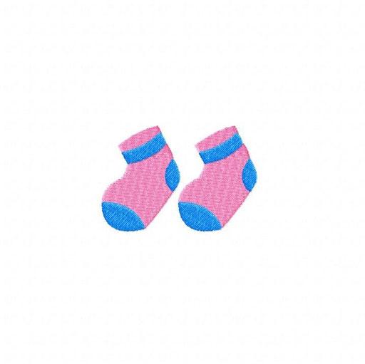 Socken - Größe: 80x54 mm - Stiche: 5 688