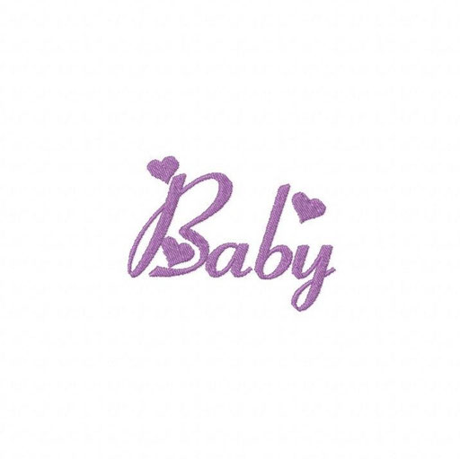 Baby Schriftzug - Größe: 85x63 mm - Stiche: 4 171