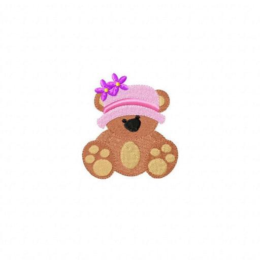Bär Mädchen - Größe: 69x81 mm - Stiche: 10 118