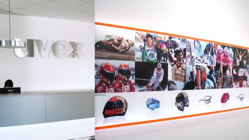 uvex Sports | Gestaltung Empfangsbereich