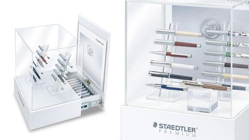 STAEDTLER-Premium | Thekenvitrine für max. 12 Schreibgeräte