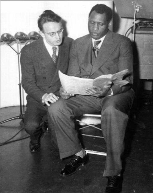"""Probe für """"Ballad for Americans"""" mit dem Komponisten Earl Robinson, 1939"""
