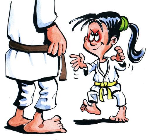 Mut: Nimm im Randori und Wettkampf dein Herz in die Hand. Gib dich niemals auf, auch nicht bei einer drohenden Niederlage oder bei einem scheinbar übermächtigen Gegner.