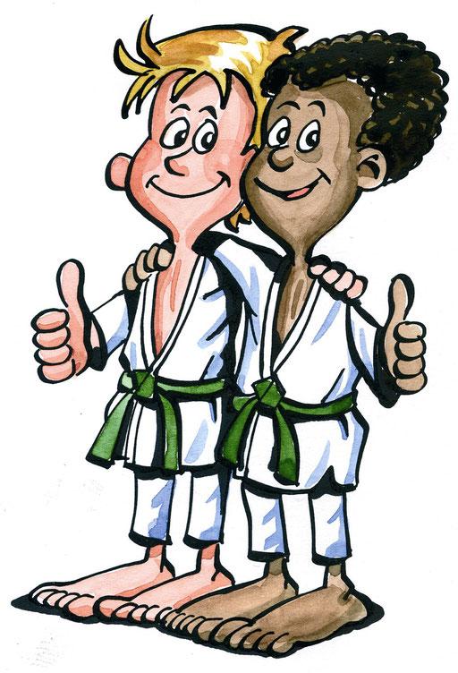 Freundschaft: Achte all diese Werte und alle Menschen. Dann wirst du beim Judo unweigerlich Freunde finden.
