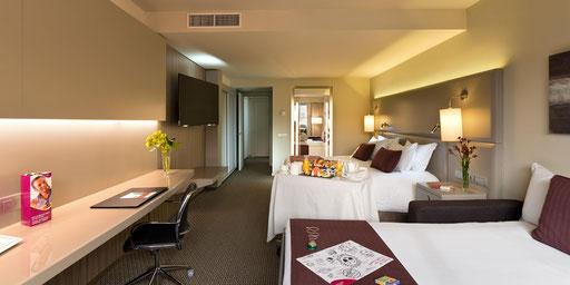 Agencement et aménagement de chambres d'hôtel