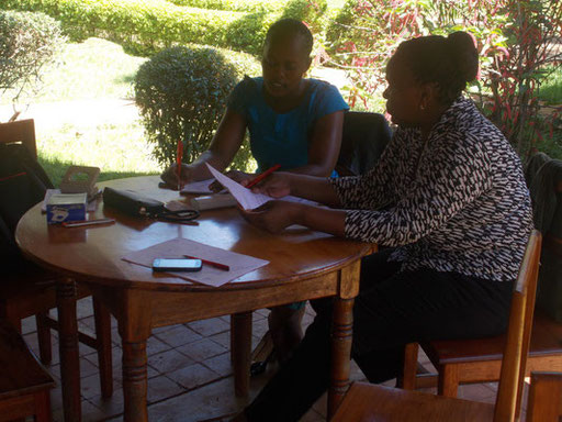 Mary and Susan in a meeting. Preparation for the final meeting on Sunday...