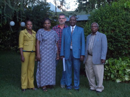 Our local team. From the left: Susan, Mary, John and Mr. Mutugi