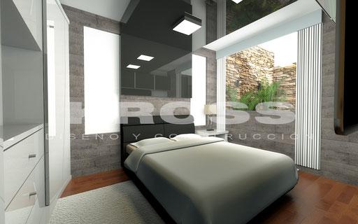 Dormitorio Minimalista Gris 1