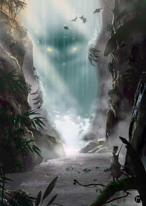 Artwork - Illustration - Deep in the Amazon jungle