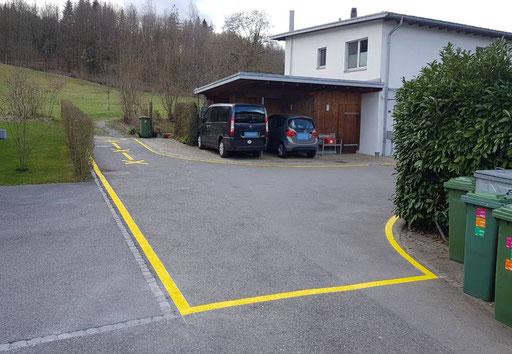 Parkplatzmarkierung privat Parkplatz