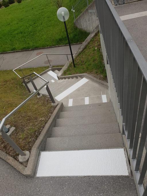 Treppenmarkierung