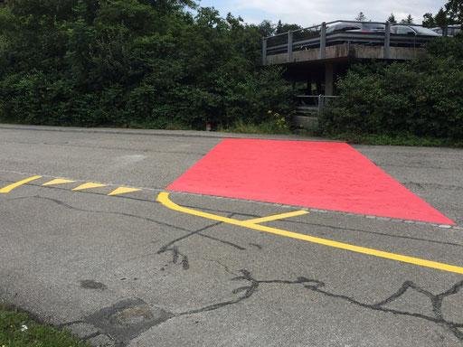 Strassenmarkierung, Flächenbeschichtung FGSO, Farbliche Gestaltung der Verkehrsoberfläche,