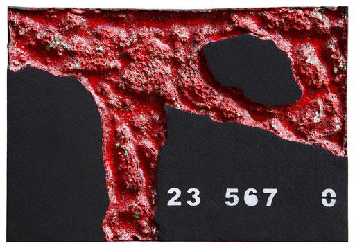 aus der serie zerfressen - 2010 - kunststoffe und pigment - 35 x 50 cm