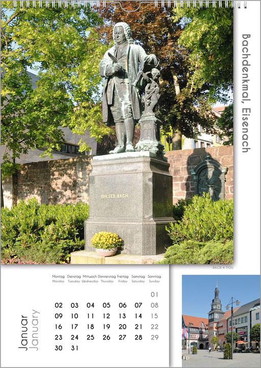 Der Bachstädte und Bachorte Kalender ... Bach-Kalender sind Musikkalender und Musik-Geschenke.