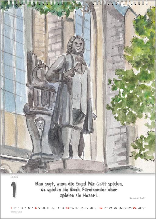 Der Bach-Denkmale-Kalender ... Bach-Kalender sind Musikkalender und Musik-Geschenke.