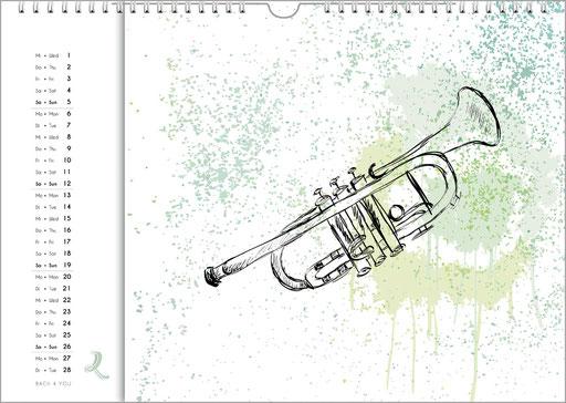 Musik-Kalender sind Musik-Geschenke – 99 Musik-Kalender sind 99 Musik-Geschenke.
