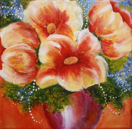 Floral Three  8 x 8  $95
