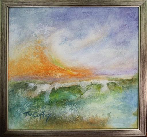 Stormy Sea  12 x 12  $125