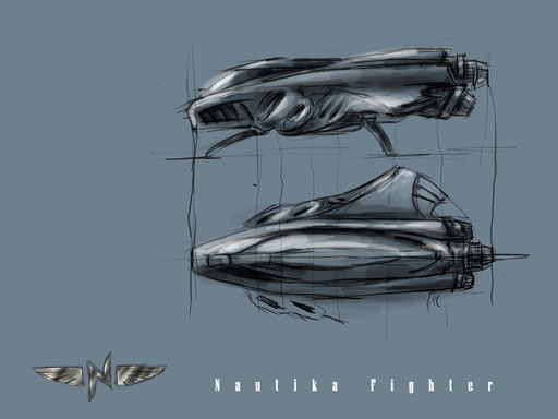 Early Concept for Nautika Fighter