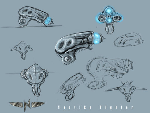 Final Sketch for Nautika Fighter