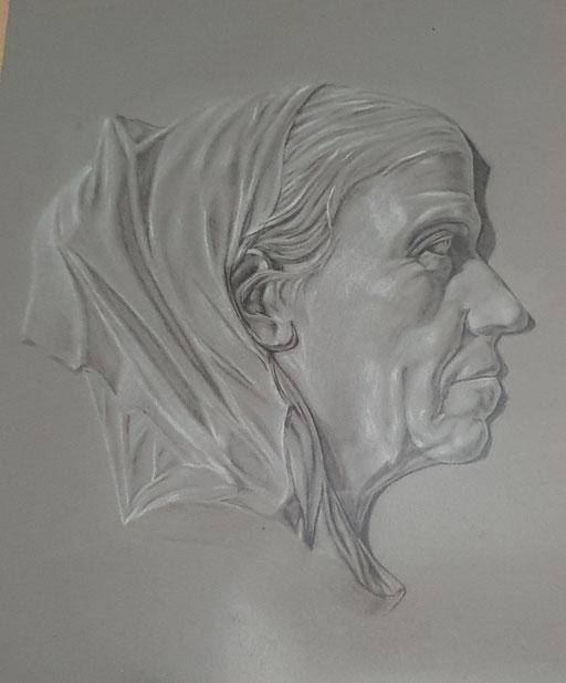vom Großvater in der Schule gemalt