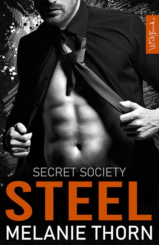 """exklusives  Science Fiction Buchcover """"Secret Society - Steel"""" von Melanie Thorn"""