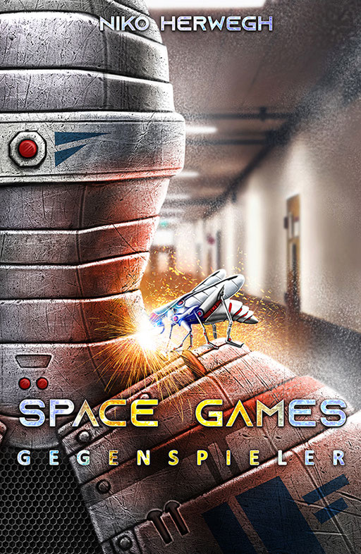 "exklusives  Science Fiction Buchcover ""Space Games - Gegenspieler"" von Niko Herwegh"