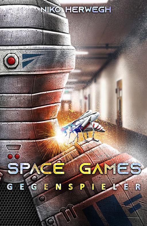 """exklusives  Science Fiction Buchcover """"Space Games - Gegenspieler"""" von Niko Herwegh"""