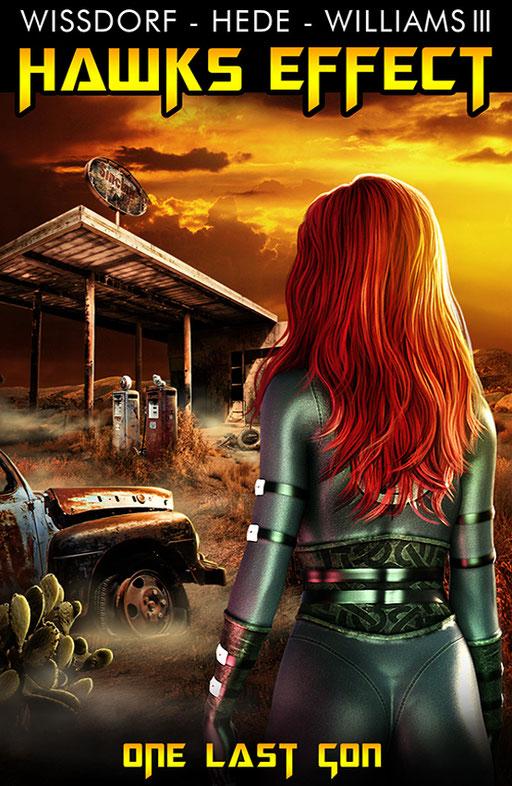 "exklusives  Science Fiction Buchcover "" Hawks Effect - One last con"" von Wissdorf, Hede  & Williams III"