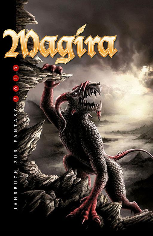 """exklusives Fantasy Buchcover """" Magira - Jahrbuch zur Fantasy 2013 """" erschienen im p.machinery Verlag"""