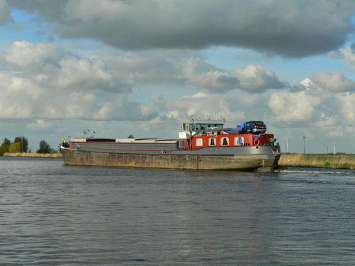 Berufsschifffahrt auf der Eem