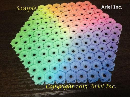 フルカラー樹脂、積層ピッチ 0.1mm