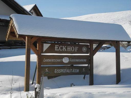 Eckhof Schild an der Einfahrt
