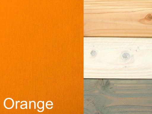 Truhenbank / Sitztruhe Polster Dekor Orange