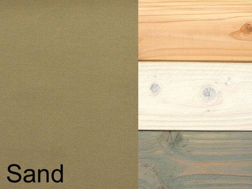 Truhenbank / Sitztruhe Polster Dekor Sand