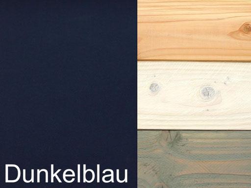 Truhenbank / Sitztruhe Polster Dekor Dunkelblau