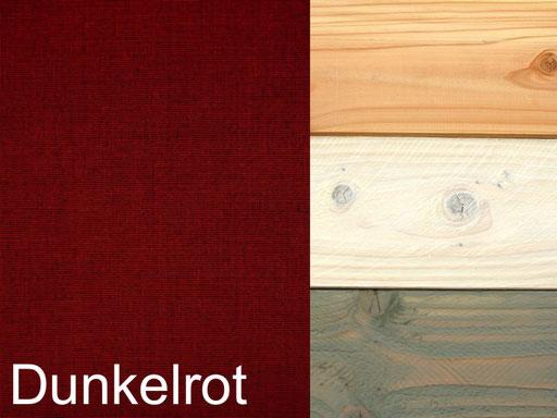 Truhenbank / Sitztruhe Polster Dekor Dunkelrot