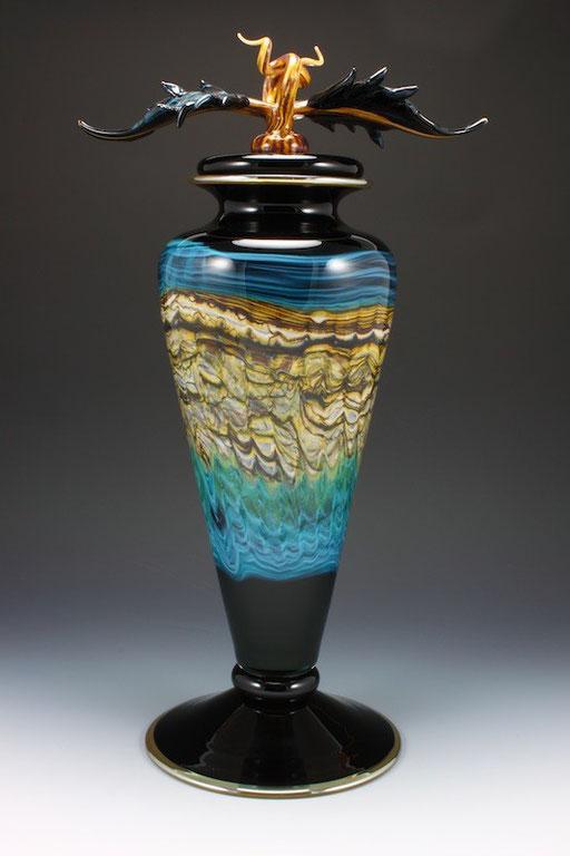 Black Opal Footed Vessel