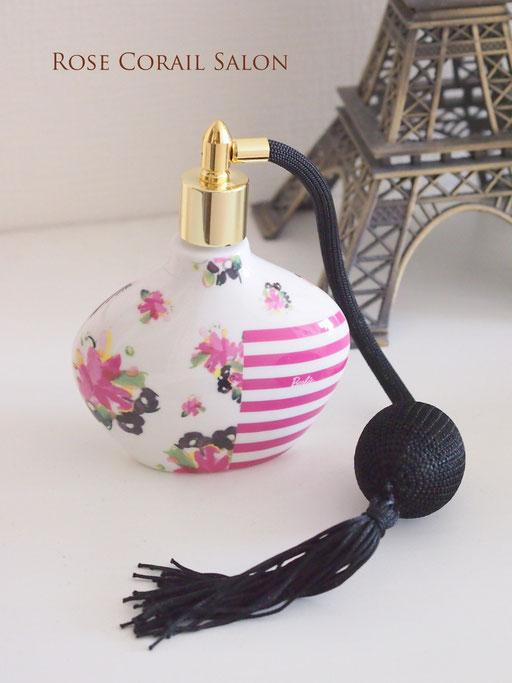 ポーセラーツ生徒様作品:バービー柄の香水瓶