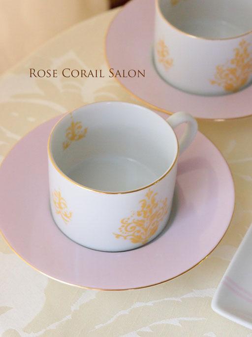 ポーセラーツ生徒様作品:お洒落なカップ&ソーサー
