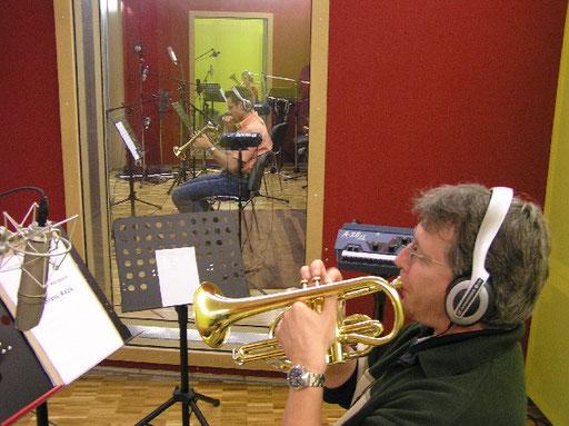 Produktion von Acanthus Music für Brass Quartett unter der Leitung von Corsin Tuor - Kino Chiappori und Paul Muff