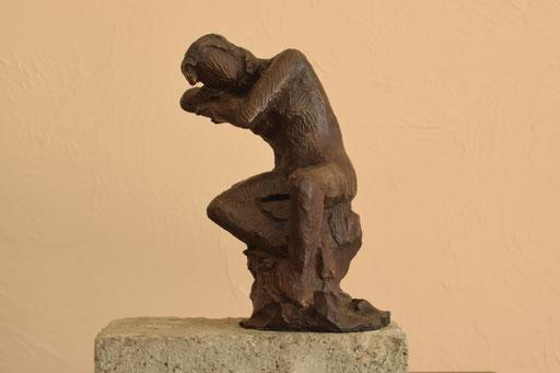 Assoupie, bronze,  15 cm, Belgique