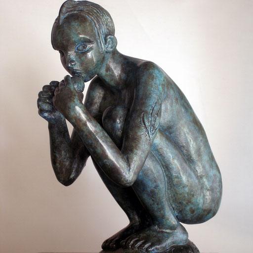 Exilée, bronze, 19 cm, Disponible Belgique