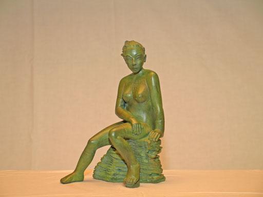 Tristes tropiques, bronze, 27 cm, Belgique