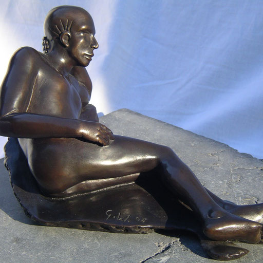 La dune, bronze, 37 cm, disponible, Québec