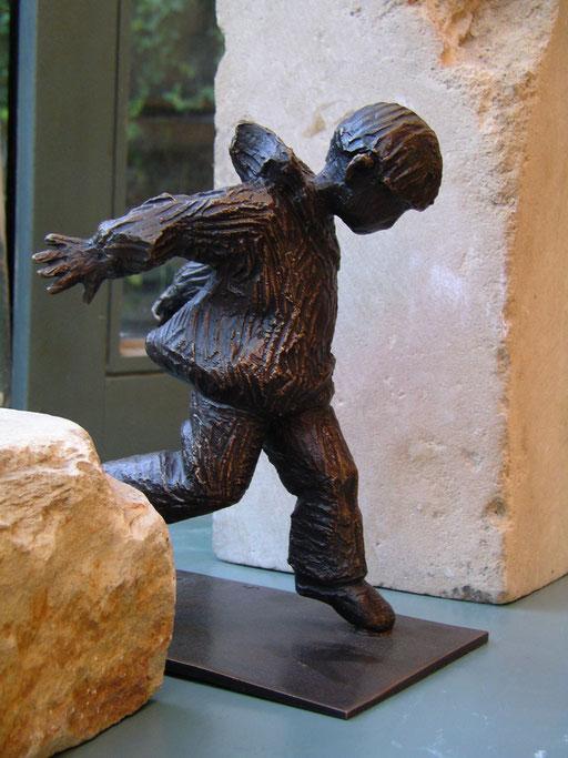 Du bout du pied, bronze, 16 cm, Belgique