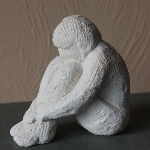 Ramassée, en bronze sur commande, 10cm, Belgique