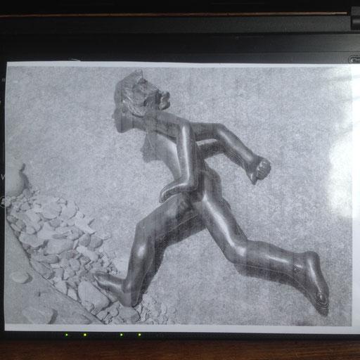 Le Coureur, bronze, 15 cm, Québec